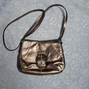 Small Coach metallic purse